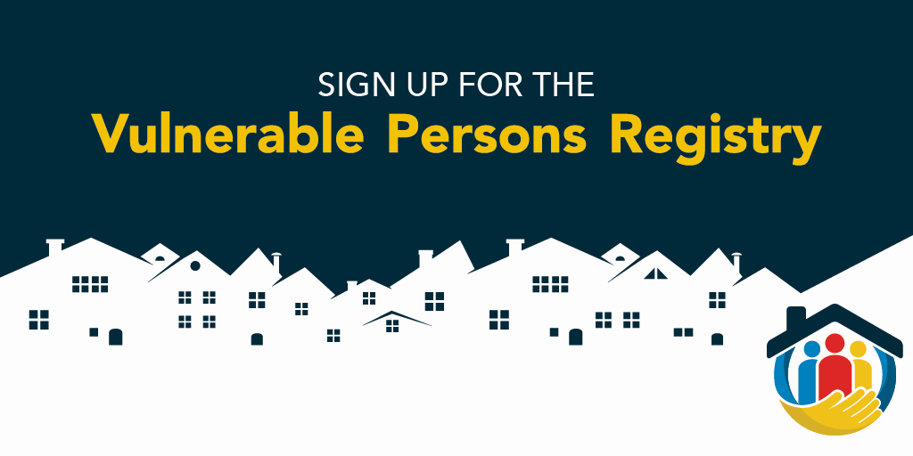 Sign up for the Vulnerable Persons Registry
