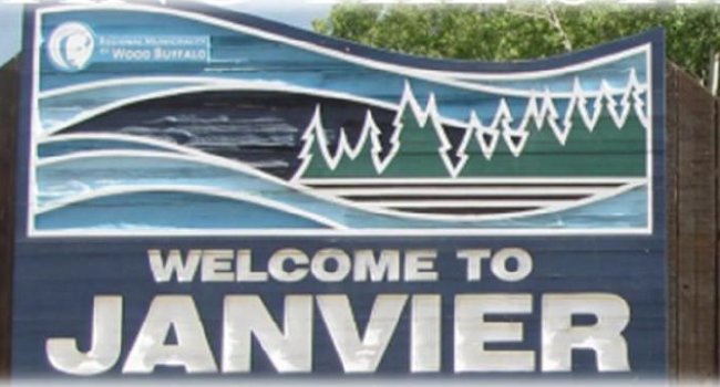 Janvier welcome sign