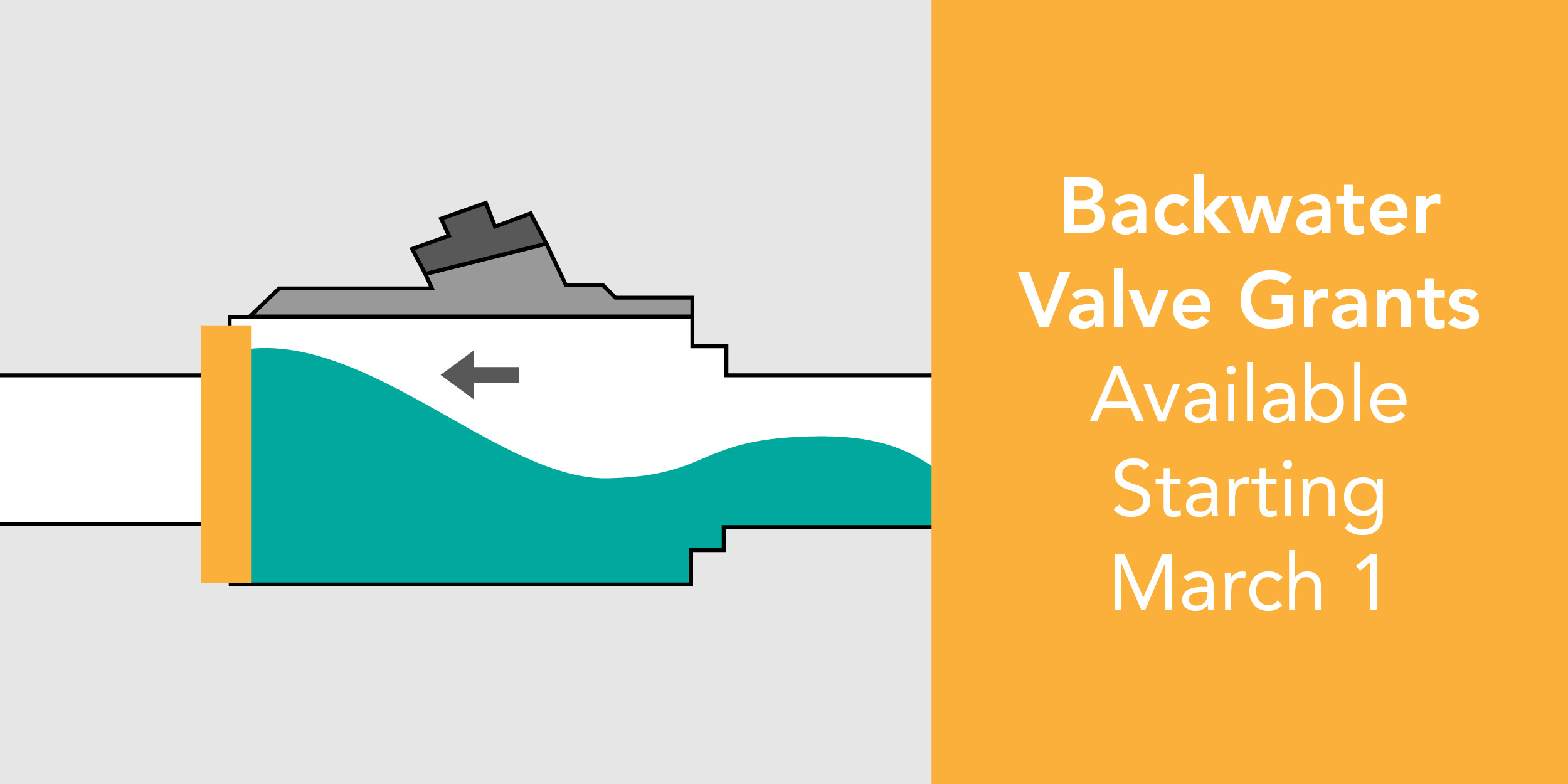 Backwater valve grants available starting March 1